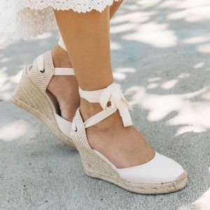 Soludos Classic Tall Wedge Espadrille in Blush